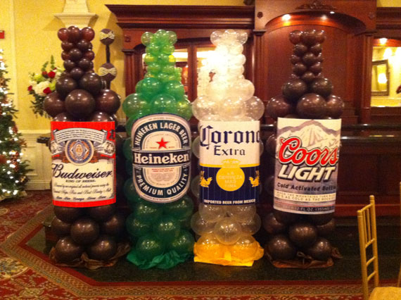 Decorated Alcohol Bottles For Birthday Classy Wwwsandysparty Balloons Decorations Party Decorations Design Inspiration